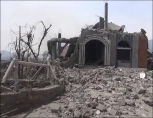 Aftermath of Saudi air raids on Taiz (Tuesday, 06/02/2015)