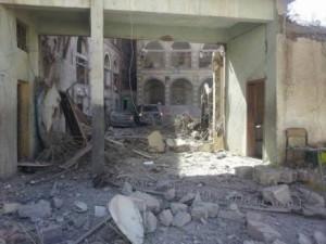 غارات العدوان السعودي - مجمع الدفاع العرضي - صنعاء - 9يونيو2015 (2)