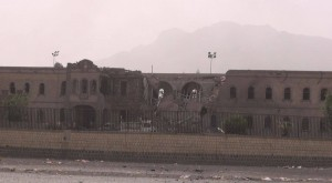 غارات العدوان السعودي - مجمع الدفاع العرضي - صنعاء - 9يونيو2015 (6)