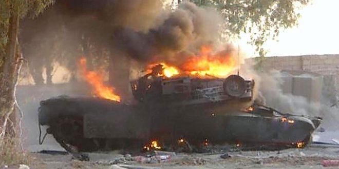 تدمير الحدود دبابة